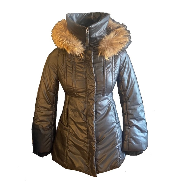 MACKAGE down filled puffer with fur trim